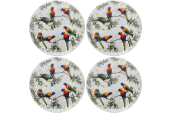 4PK Maxwell & Williams Cashmere Birds of Australia Plate 20cm Lorikeets Treetop