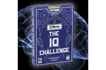 Challenge Your IQ Mensa Quiz Cards Deck Test Intelligence Problem Solving Logical Thinking