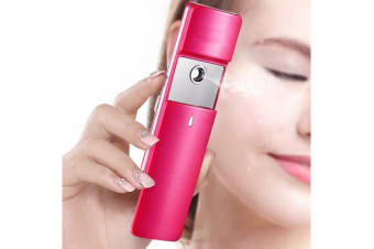 Nano Handy Mist Spray Moisture Atomizer Usb Rechargeable Skin Facial Body Pink