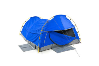 Wallaroo King Single Swag Camping Tent Dome - Navy Blue