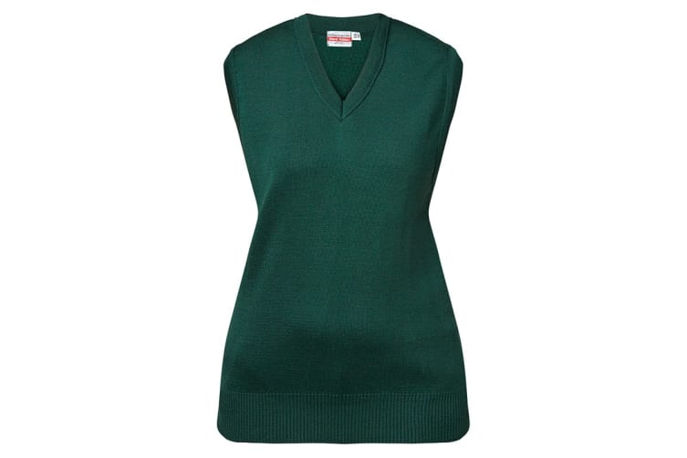 Hard Yakka Men's Wool/Acrylic V-Neck Vest (Bottle Green, Size 22)