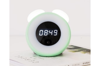 Select Mall Creative Time Alarm Clock Night Light Bedside with Sleeping Table Lamp Sound Control with Time-Green