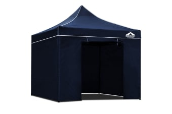 3x3 Pop Up Gazebo Hut with Sandbags (Navy)