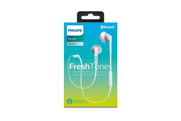 Philips MyJam FreshTones Bluetooth In-Ear Headphones - White (SHB5250WT)