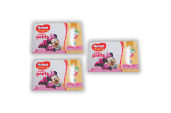 264PK Huggies Ultimate Size 4 Girl 10-15kg Toddler Mickey 12h Nappy Pant/Pull Up