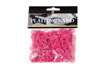 Lincoln Plaiting Bands (500 Pack) (Pink)