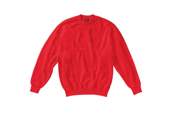 SG Kids/Childrens Crew Neck Sweatshirt Top (Red) (11-12)