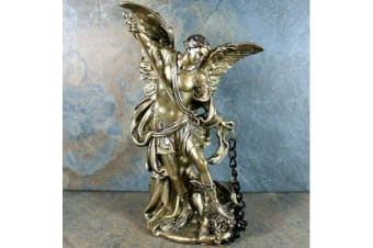 Archangel Michael Statue Angel Figurine Faith Love Protection & Integrity Tin