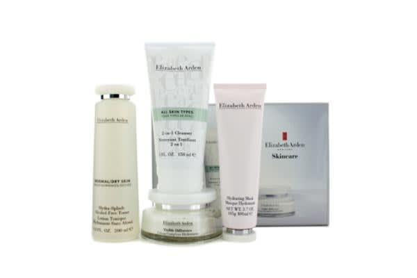 Elizabeth Arden Skincare Set: 2-in-1 Cleanser 150ml + Hydra-Splash Toner 200ml + Refining Moisture Cream 100ml + Hydrating Mask 100ml (4pcs)