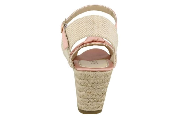 Spot On Womens/Ladies Wedge Sandals (Pink) (6 UK)