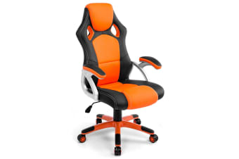 Gaming Office Chair w/ Adjustable Tilt - Black/Orange