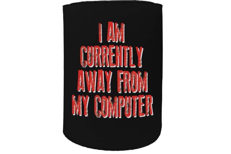 123t Stubby Holder - preview away computer - Funny Novelty