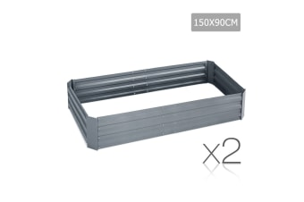 Galvanised Raised Garden Bed Aluminium (Light Grey)
