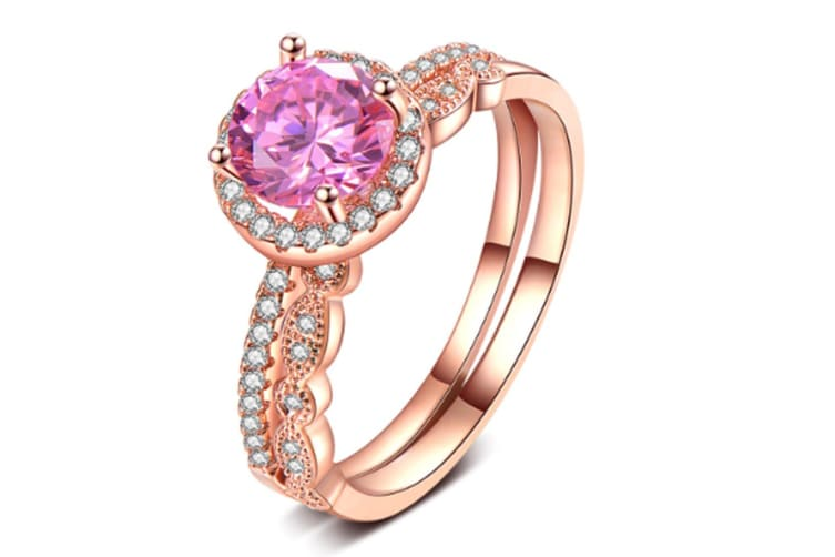 Rose Gold Plate CZ Fashion ring 6