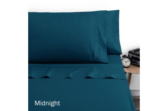 250TC Polyester Cotton Sheet Set Single Midnight by Artex
