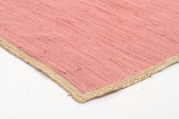Reno Cotton and Jute Rug Pink 270x180cm