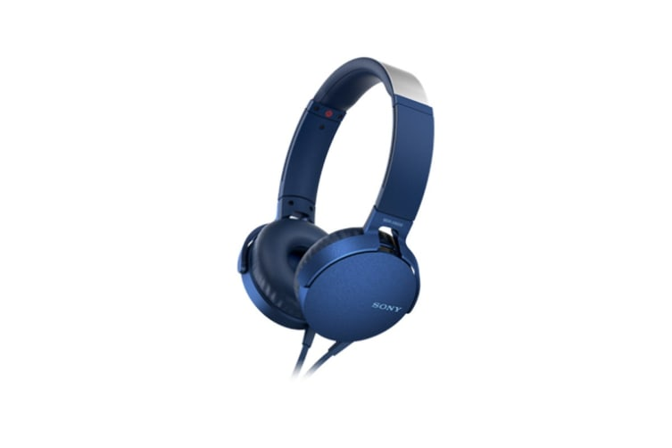 Sony Extra Bass Headphones - Blue (MDRXB550APL)