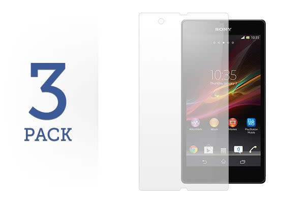 3 Pack Screen Protector for Sony Xperia Z 4G