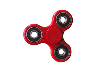 3D Hand Spinner Fidget Toy Stress Reliever Fast Bearing Gear Spin Abs Red