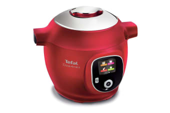 Tefal 1450W 6L Cook4Me+ Electric Pressure Cooker Steamer w  Steaming Basket Red