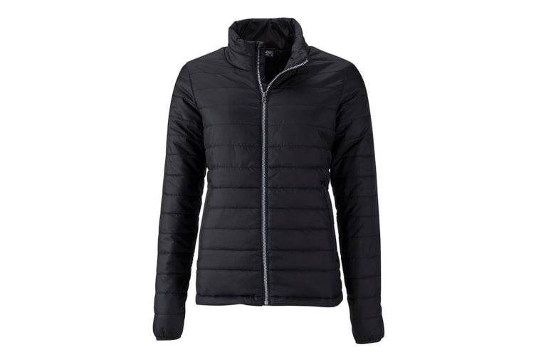 James and Nicholson Womens/Ladies Padded Jacket (Black) (L)