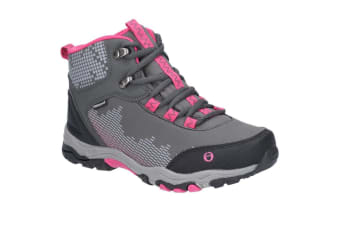Cotswold Childrens/Kids Ducklington Lace Up Hiking Boots (Grey/Pink) (2 Child UK)