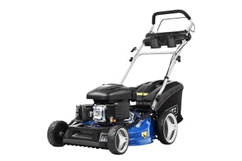 "Giantz Lawn Mower Self Propelled 21"" 220cc 4 Stroke Petrol Mower Grass Catch"