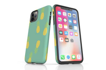 For iPhone 11 Pro Max Shielding Back Case  Pastel Pineapple