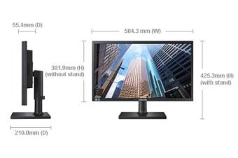 Samsung 21.5' Business Monitor FHD Height Adjust D-Sub, DVI, Tilt,VESA Monitor (LS)