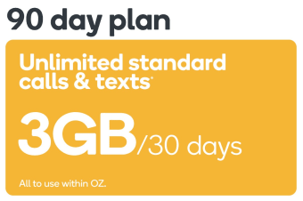 Kogan Mobile Prepaid Voucher Code: SMALL (90 Days | 3GB Per 30 Days) - No SIM