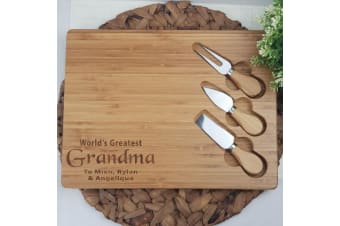 Personalised Bamboo Cheese Board - Grandma