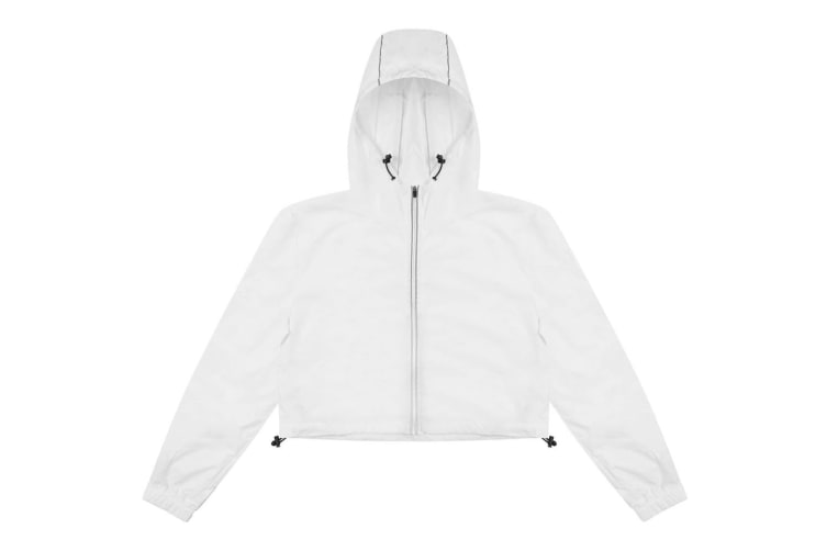AWDis Just Cool Womens Girlie Cropped Windshield Jacket (Arctic White) (L)