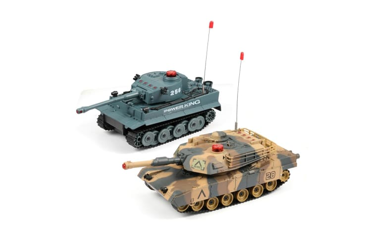 Remote Control Infrared Battle Tanks Pack of 2