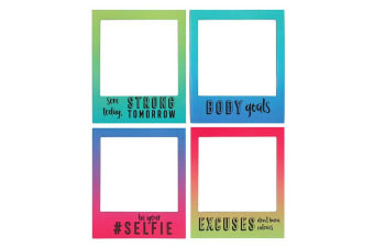 Something Different Motivational Magnetic Picture Frames (Set Of 4) (Multicoloured)