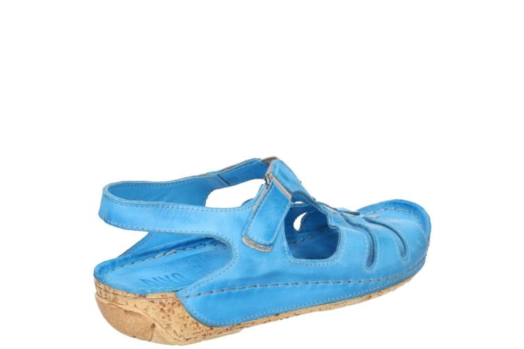 Riva Womens/Ladies Verna Touch Fastening Leather Sandal (Blue) (5 UK)
