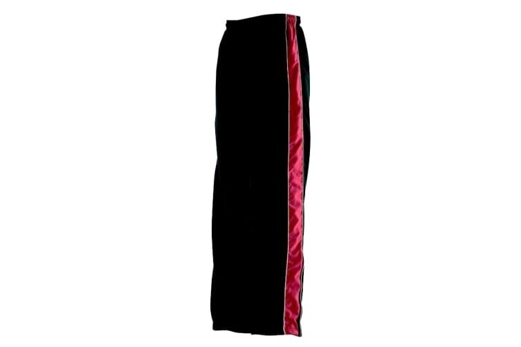 Finden & Hales Kids Unisex Contrast Sports Track Pants / Tracksuit Bottoms (Pack of 2) (Black/Red/White) (5-6)