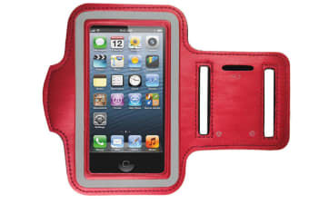 Universal Armband Jogging/Running Gym Arm Band for Apple Iphone 4/4S/5/5S/5C Red