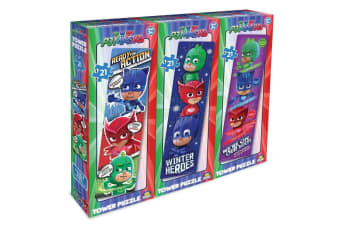 3PK 21pc PJ Masks Tower Jigsaw Puzzle Game Children/Kids 3y+ Educational Toys
