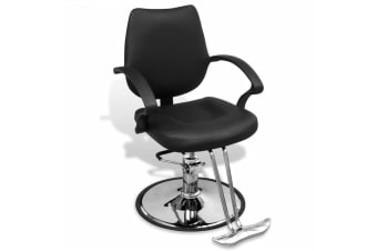 vidaXL Professional Barber Chair Artificial Leather Black