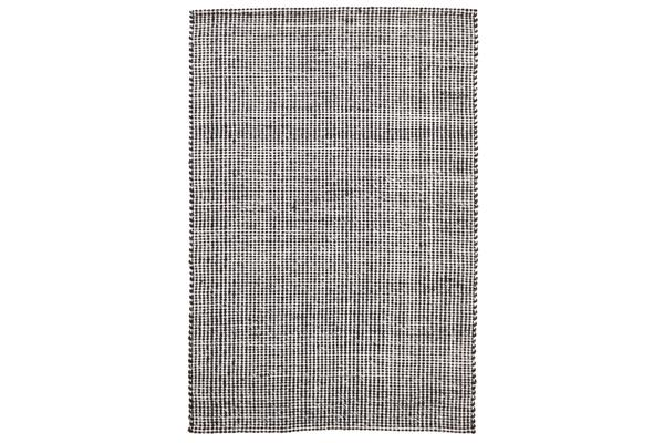 Carlos Felted Wool Rug Black Natural 225x155cm