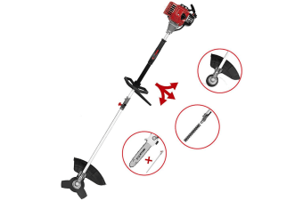 Kuller 4in1 Pole Chainsaw Grass Brush Cutter Hedge Trimmer Petrol Tool 2 Stroke