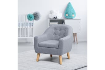 Kidbot Kids Sofa Armchair Children Lounge Chair Linen Fabric Tufted Soft Couch Single