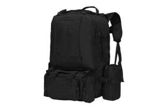 55L Hiking Camping Military Backpack BLACK