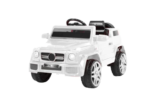 Mercedes Benz Inspired 12v Ride-On Kids Car Remote Control  - White