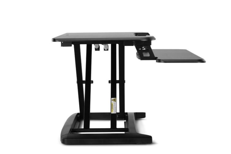Ergolux DuoPro Height Adjustable Sit Stand Desk Riser (Small, Black)