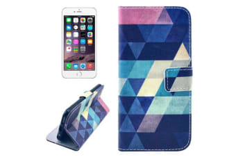 For iPhone 8 PLUS 7 PLUS Wallet Case Modern Rhombus Leather Shielding Cover