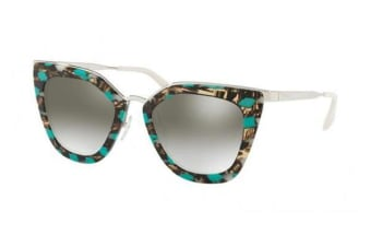 Prada PR53SS 52mm - Striped Grey Green (Grey Gradient Silver Mirror lens) Womens Sunglasses