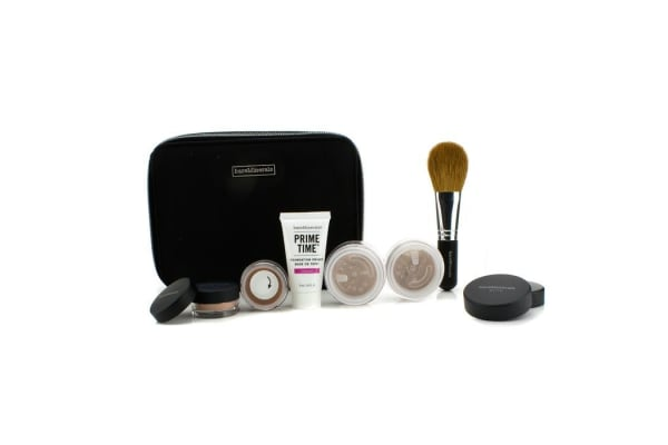 Bare Escentuals BareMinerals Get Started Complexion Kit For Flawless Skin - # Medium Tan (6pcs+1clutch)