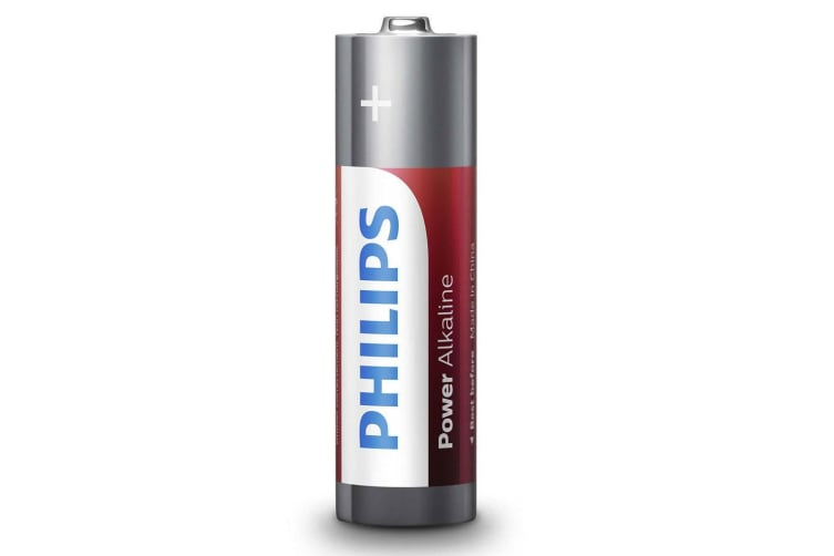 72PK Philips AA Alkaline Single Use Battery 1.5V LR6 Long Lasting Batteries