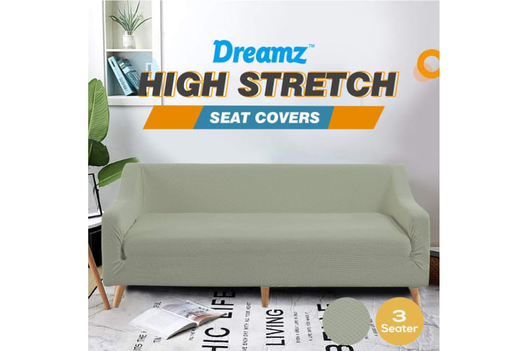 Dreamz Couch Stretch Sofa Lounge Cover Protector Slipcover 3 Seater Khaki New